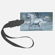 2012 Holiday Unicorn Blue Luggage Tag