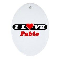 I Love Pablo Oval Ornament