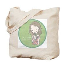 """I'm feeling lucky today"" Vintage-finish Tote Bag"