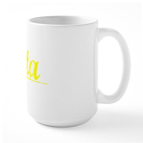 Vita, Yellow Large Mug