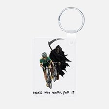 Grim Reaper Chasing Cyclis Keychains