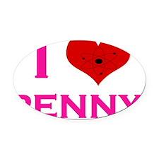 I Heart Penny Oval Car Magnet