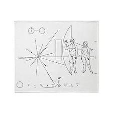 Pioneer Plaque Throw Blanket