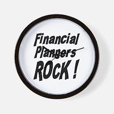 Financial Planners Rock ! Wall Clock