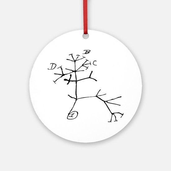 Darwin Tree Round Ornament