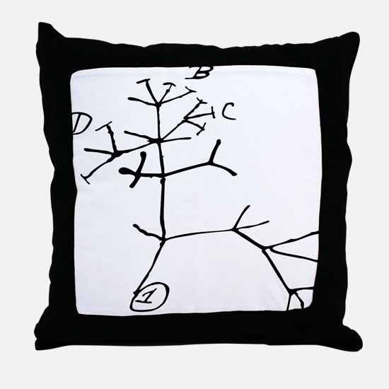 Darwin Tree Throw Pillow