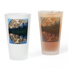 Mt Shuksan over Picture Lake Drinking Glass