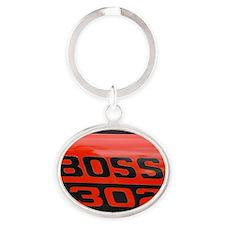 Boss Oval Keychain