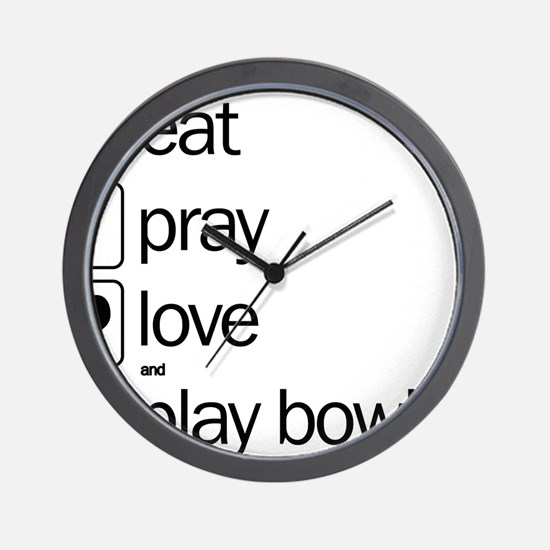 Eat pray love darts Wall Clock