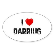 I * Darrius Oval Decal