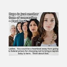 Rape Throw Blanket