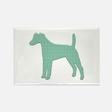 Paisley Foxie Rectangle Magnet (10 pack)