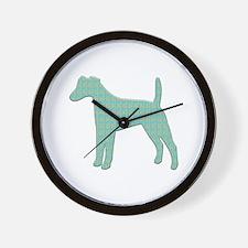 Paisley Foxie Wall Clock