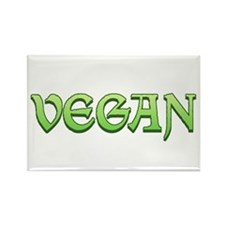 Gothic Vegan Rectangle Magnet