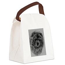 Chow  Chow Dog Headstody - Black Canvas Lunch Bag