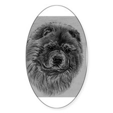 Chow  Chow Dog Headstody - Black Decal