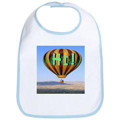 hi! hot air Bib