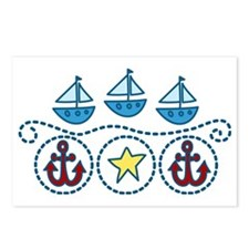 Sailboats Postcards (Package of 8)