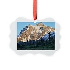 Mt Shuksan over Picture Lake Ornament
