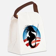 Seahorse and Bayonet Canvas Lunch Bag