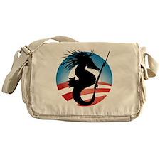 Seahorse and Bayonet Messenger Bag