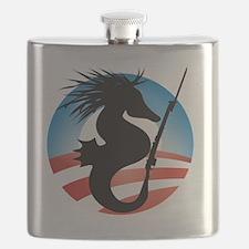 Seahorse and Bayonet Flask