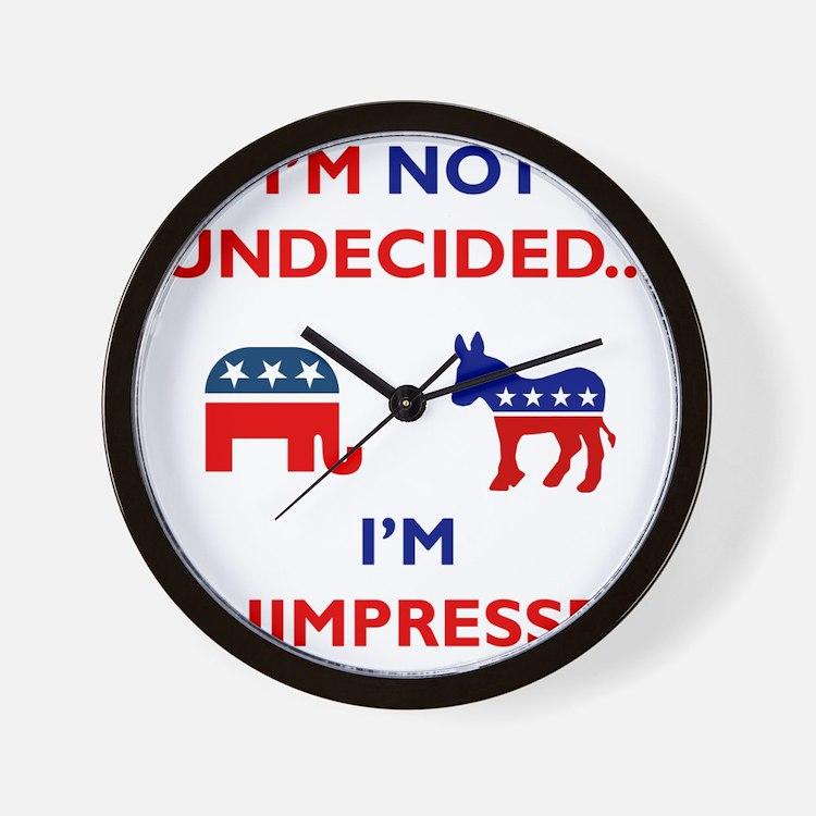 Unimpressed Wall Clock