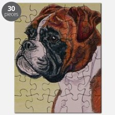 Red Boxer Dog headstudy Puzzle