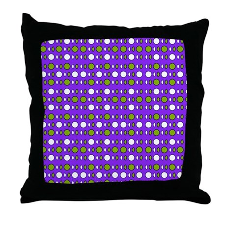 Purple Green Throw Pillow : Purple Green Wild Shapes Throw Pillow by Admin_CP9012672