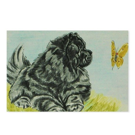 Chow Chow Dog with Butter Postcards (Package of 8)