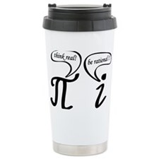 Think real be rational Travel Coffee Mug