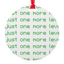 One more level Round Ornament