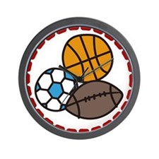 Sport Balls Wall Clock