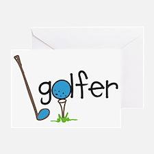 Golfer Greeting Card