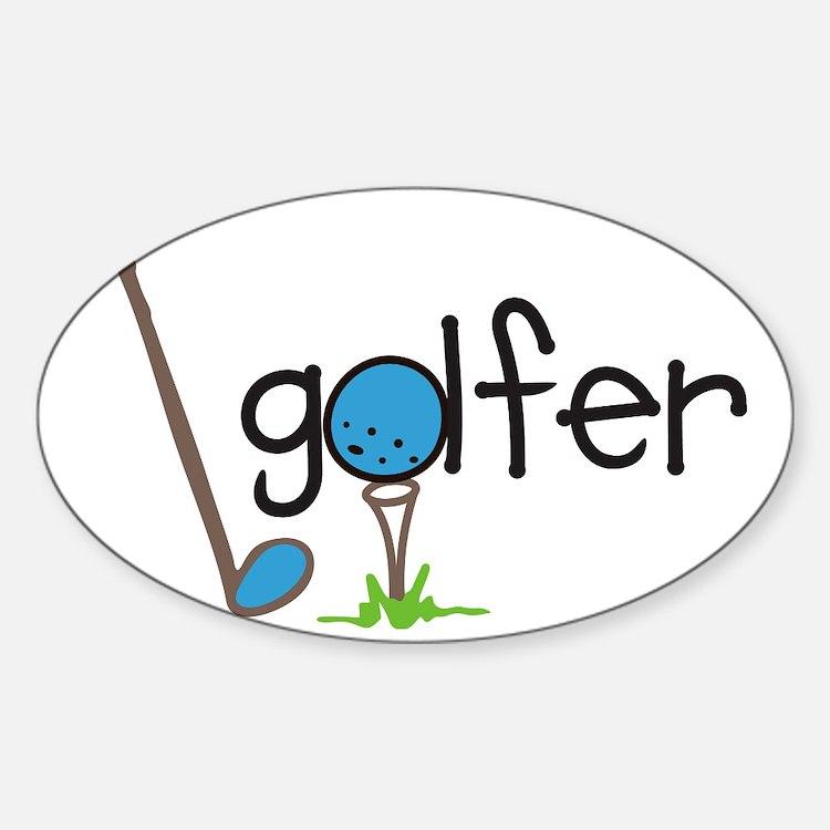 Golfer Sticker (Oval)