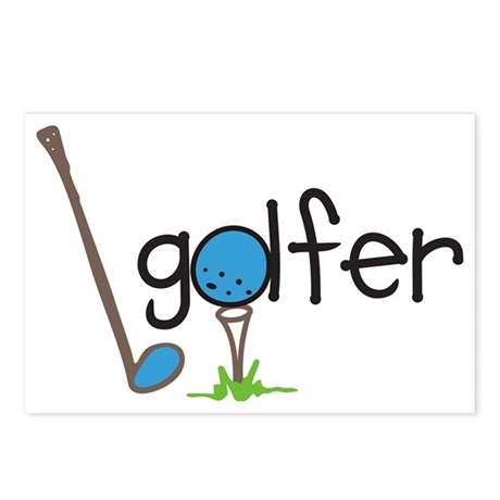 Golfer Postcards (Package of 8)