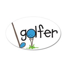 Golfer 35x21 Oval Wall Decal