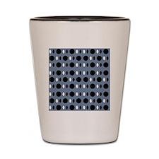 Chic Gray Black Perception Designer Shot Glass