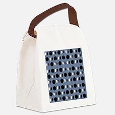 Chic Gray Black Perception Design Canvas Lunch Bag