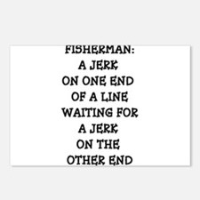 FISHERMAN DEFINITION Postcards (Package of 8)