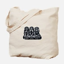 Three Monkeys Tote Bag