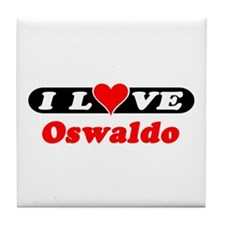 I Love Osvaldo Tile Coaster