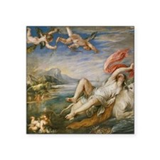 "Rubens Vintage Painting Square Sticker 3"" x 3"""