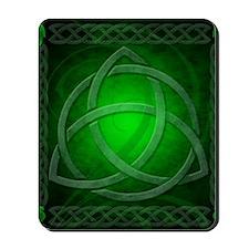 Vintage Celtic Dragon Knotwork Green Mousepad