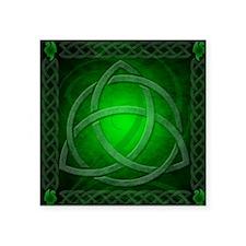 """Vintage Celtic Dragon Knotw Square Sticker 3"""" x 3"""""""