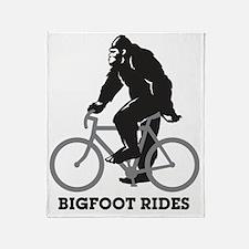Bigfoot Rides Throw Blanket