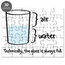 Technically the glass is always full Puzzle