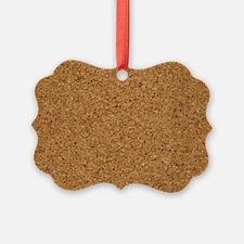 Chic Cool Cork Designer Ornament