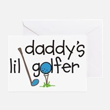 Daddys Lil Golfer Greeting Card