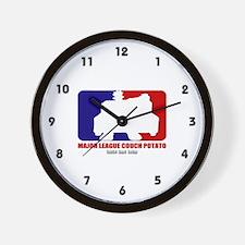 Major League Couch Potato Wall Clock